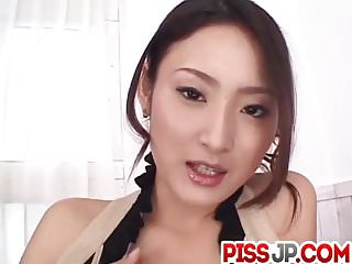 Risa loves blowing dick and having jizz on her lips