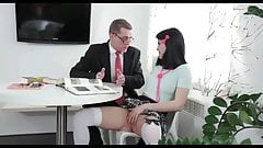 Jody fucked hardcore by her tricky old teacher after class1