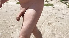 Naked on the nudist beach in Valencia