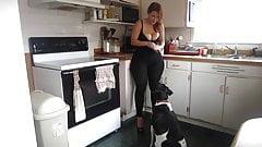 Big ass spandex milf in the Kitchen