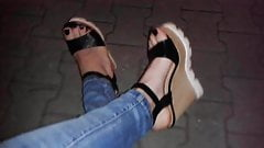 walking in my platform wedges