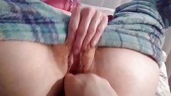 My horny shy wife rubbing her cunt and talking nasty