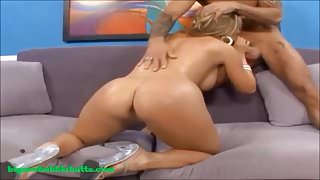 bubble butt blond milf fucked and cum on ass