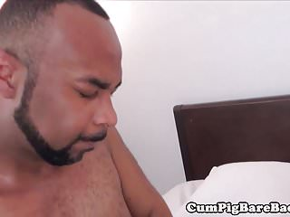 Preview 5 of Muscular black dude barebacking inked hunk