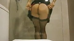 Sexy spanish crossdresser stripping