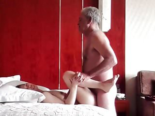 Oldman with Chinese girl