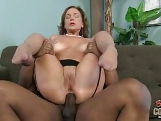 Cute granny gets creampie after interracial anal fuck-a-thon