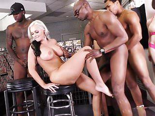 BBC Slut Alena Croft Interracial Anal Gangbang