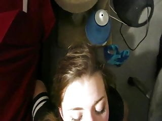 She looks so beautiful having all that cum on her face