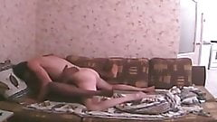 Old Russian Homemade Sextape Interracial Black and White Sex