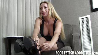 I want to give you a foot fetish surprise