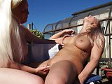 British mom Rachel licks and fucks busty daughter Beth