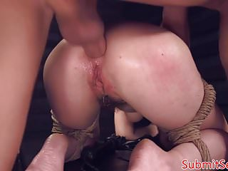 Restrained Bdsm Babe Anal Fucked Doggystyle