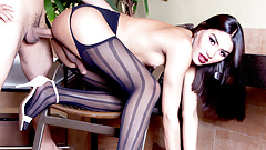 Stunning TS Teen Mayna Santini Bends Over for a Perfect Anal