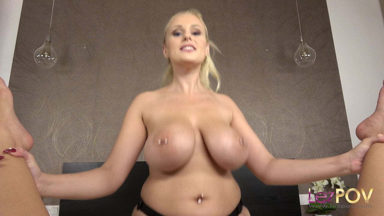 Busty Blonde Angel Wicky Teases and Fucks Liv Revamped