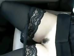 Mature Flashes Her Tits And Pussy In The Car