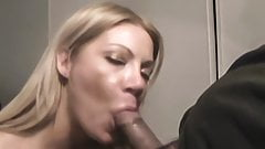 Cute blonde films herself sucking her boyfriend