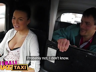 Female Fake Taxi Cheeky Passenger Loves Drivers Tits