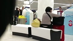 Nice White Thong - Waiting at the airport - Part I