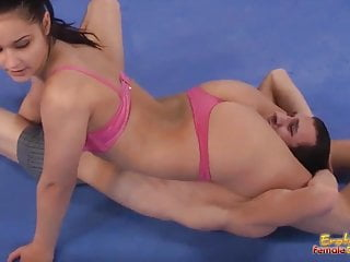 Mixed Wrestling Femdom Fight One