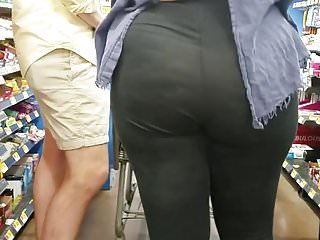 Young BBW PAWG Spandex Visible Thong Pt. 2