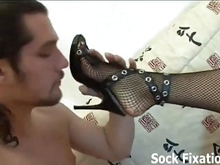 Mistress says its your lucky day footboy