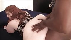 Interracial BBW Ass Play