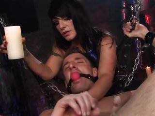 Sexy black haired slut loves some kinky stuff after giving warm blowie