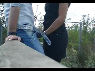 Hot Amateur Italian Brunette Blowjob Outdoor