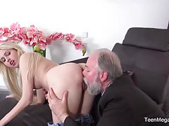 TeenMegaWorld -Old-n-Young- Blondie follows her old teacher
