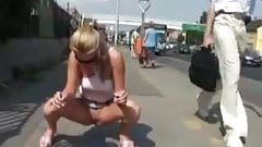 Blonde Public Piss Honey