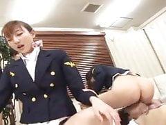 licking flight attendants