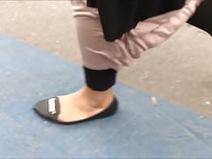 Shoe Fetish - Foot Following BBW Muslima's Thumb