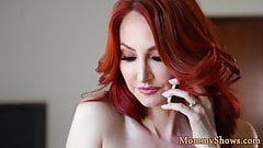 Redhead milf lickings stepdaughters pussy