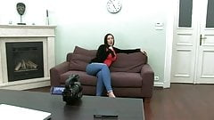 British slut Paige fucked on sofa