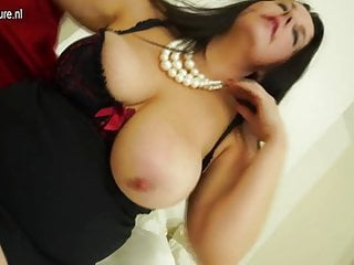 Horny British mom playing with her pussy