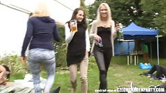 Outdoor SEX Orgy During the Garden Party