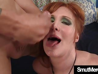 Preview 6 of Mature Redhead fucks young guy