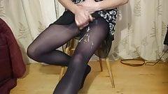 cumming in my wife's tights