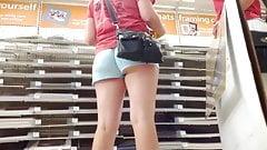 upshorts college girl  at hobby store