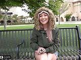Teen Valerie White gives roadhead & fucks in the backseat