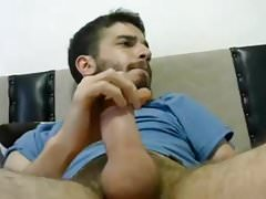 Young Sexy Guy Stroking His Cock