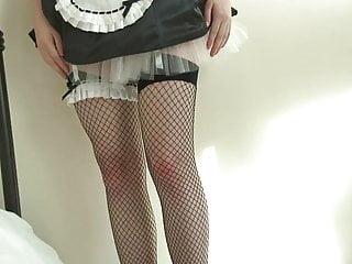 Please spank me mommy - Brunette wears frilly, seductive maids uniform.. ooo spank me