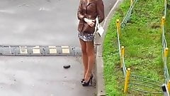 Street prostitute waiting for customer 1