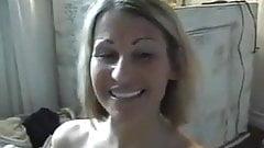 Hot mom gives a handjob and receives facial