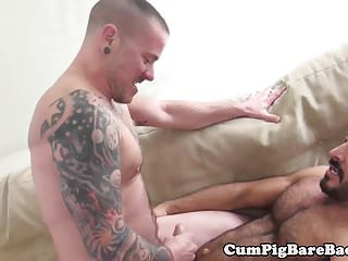 Preview 6 of Inked stud barebacked by eager wolf