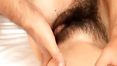 Hina has hairy and licked slit fucked