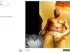 Webcam trolling #1 - Older male jerking on webcam chat