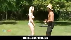 Two best girl friends ends up catfighting like crazy