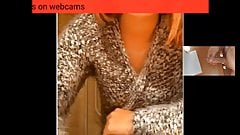 girl help my cum on webcam